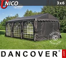 Tenda party UNICO 3x6m, Nero
