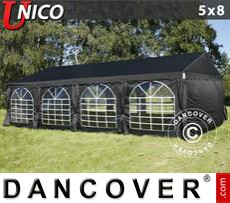 Tenda party UNICO 5x8m, Nero