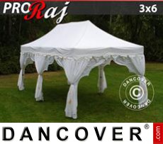 Tenda party 3x6m Bianco/Oro