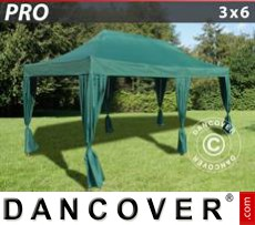 Tenda party 3x6m Verde, incl. 6