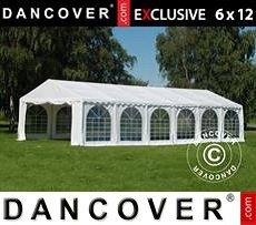 Tenda party 6x12m PVC, Bianco