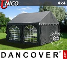 Tenda party UNICO 4x4m, Nero