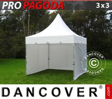 Tenda party 3x3m Bianco, incluso 4 pareti