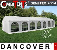 Tenda party 6x14m, 5 in 1, Bianco