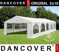 Tenda party 5x10m PVC, Arched, Bianco