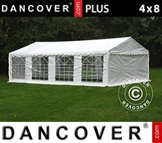 Tenda party 4x8m PE, Bianco