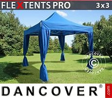 Tenda party 3x3m Blu, incl. 4