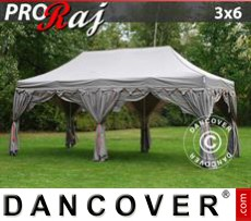 Tenda party 3x6m Latte/Arancio