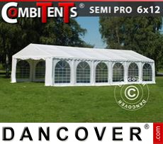 Tenda party 6x12m, 4 in 1, Bianco