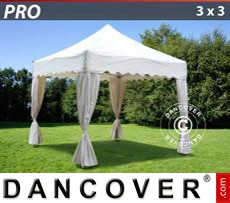 Tenda party 3x3m Bianco, incl. 4