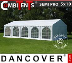 Tenda party 5x10m, 3 in 1, Bianco