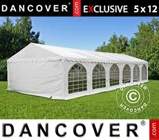 Tenda party 5x12m PVC, Bianco