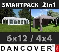 Tenda party 6x12m, Bianco/Gazebo...